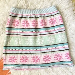 Gymboree Knit Pastel Fair Isle Skirt 6